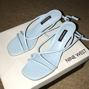 Nine West Blue Heel Sandals